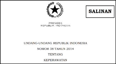 Undang-Undang Nomor 38 Tahun 2014 tentang Keperawatan