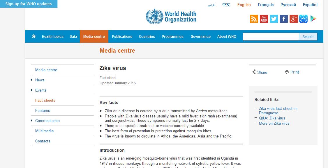 Epidemiologi Penyakit Virus Zika